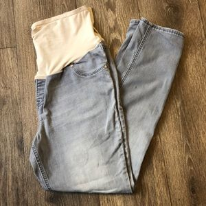 Old Navy Skinny Maternity Gray Jeans with Panel